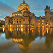 Boston Christian Science Building Reflecting Pool Art Print