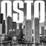 Boston Cityscape Art Print