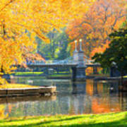 Fall Season At Boston Common Art Print