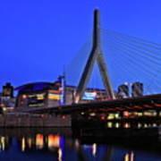 Boston Garden And Zakim Bridge Print by Rick Berk