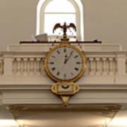 Boston Historical Meeting Room Clock Art Print
