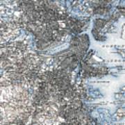 Boston Map, 1903 Art Print