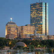 Boston Night Skyline Iv Art Print