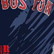 Boston Red Sox Typography Blue Art Print
