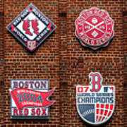 Boston Red Sox World Series Emblems Art Print