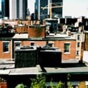 Boston Roof Tops Art Print