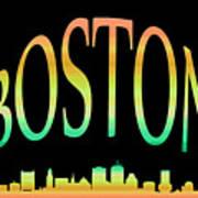 Boston Skyline 10 Art Print
