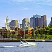 Boston Skyline Art Print by Elena Elisseeva
