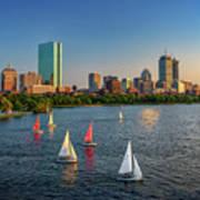 Boston Skyline Summer 2018 Art Print
