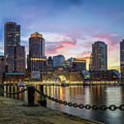 Boston,ma Sunset Art Print