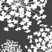 Botanicals Grey Art Print