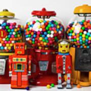 Bots And Bubblegum Machines Art Print