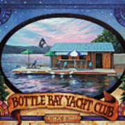 Bottle Bay Yacht Club Art Print