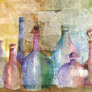 Bottle Collage Art Print