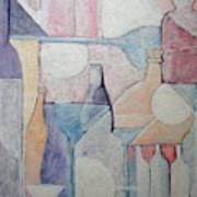 Bottles And Glasses Art Print
