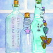 Bottles With Barnacles Art Print