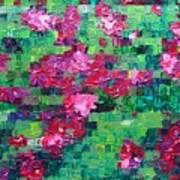 Bouganvillea - Tiled Art Print