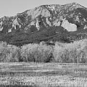 Boulder Colorado Flatiron View From Jay Rd Bw Art Print