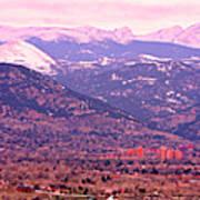 Boulder Colorado Sunrise Panorama Art Print