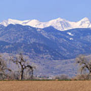 Boulder County Colorado Panorama Art Print