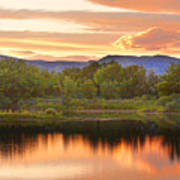 Boulder County Lake Sunset Landscape 06.26.2010 Art Print