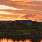 Boulder County Lake Sunset Vertical Image 06.26.2010 Art Print by James BO  Insogna