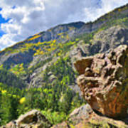 Boulder In Ouray Canyon Art Print