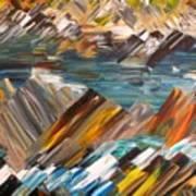 Boulders In The River Art Print