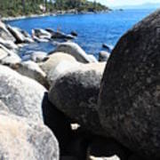Boulders On Lake Tahoe Art Print