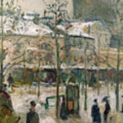Boulevard De Rocheouart In Snow Art Print