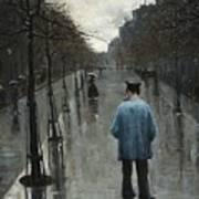 Boulevard Des Batignolles Art Print