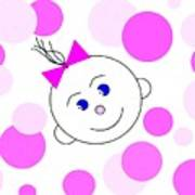 Bouncing Baby Girl Art Print
