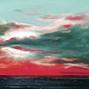 Bound Of Glory - Panoramic Sunset  Art Print