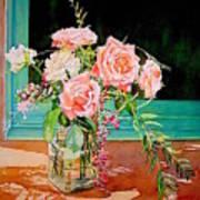 Bouquet De Roses - Marrakech Art Print