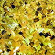 Bouquet In Gold Art Print