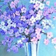 Bouquet In Silver Vase Art Print