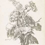 Bouquet Of Different Flowers, Jacques Bailly I, Ca. 1670 , Art Print