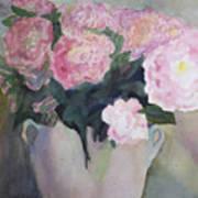 Bouquet Of Pink Peonies Art Print