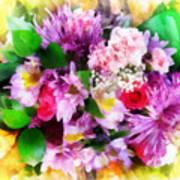 Bouquet Of Purple Art Print