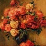 Bouquet Of Roses 1900 Art Print