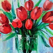 Bouquet Of Tulips Art Print