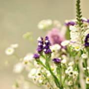 Bouquet Of Wildflowers Art Print
