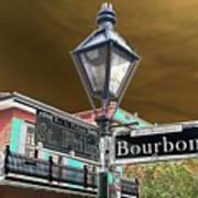 Bourbon And St. Phillip Streets Art Print