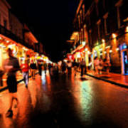 Bourbon Street At Dusk Art Print