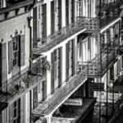 Bourbon Street Morning-bw-nola Art Print