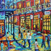 Bourbon Street New Orleans By Prankearts Art Print
