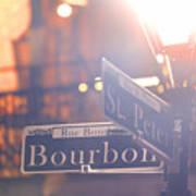 Bourbon Street New Orleans La Art Print