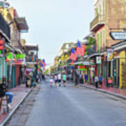 Bourbon Street - New Orleans Louisianna Art Print