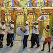 Bourbon Street Second Line New Orleans Art Print