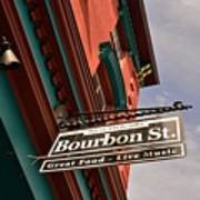 Bourbon Street Sign Art Print